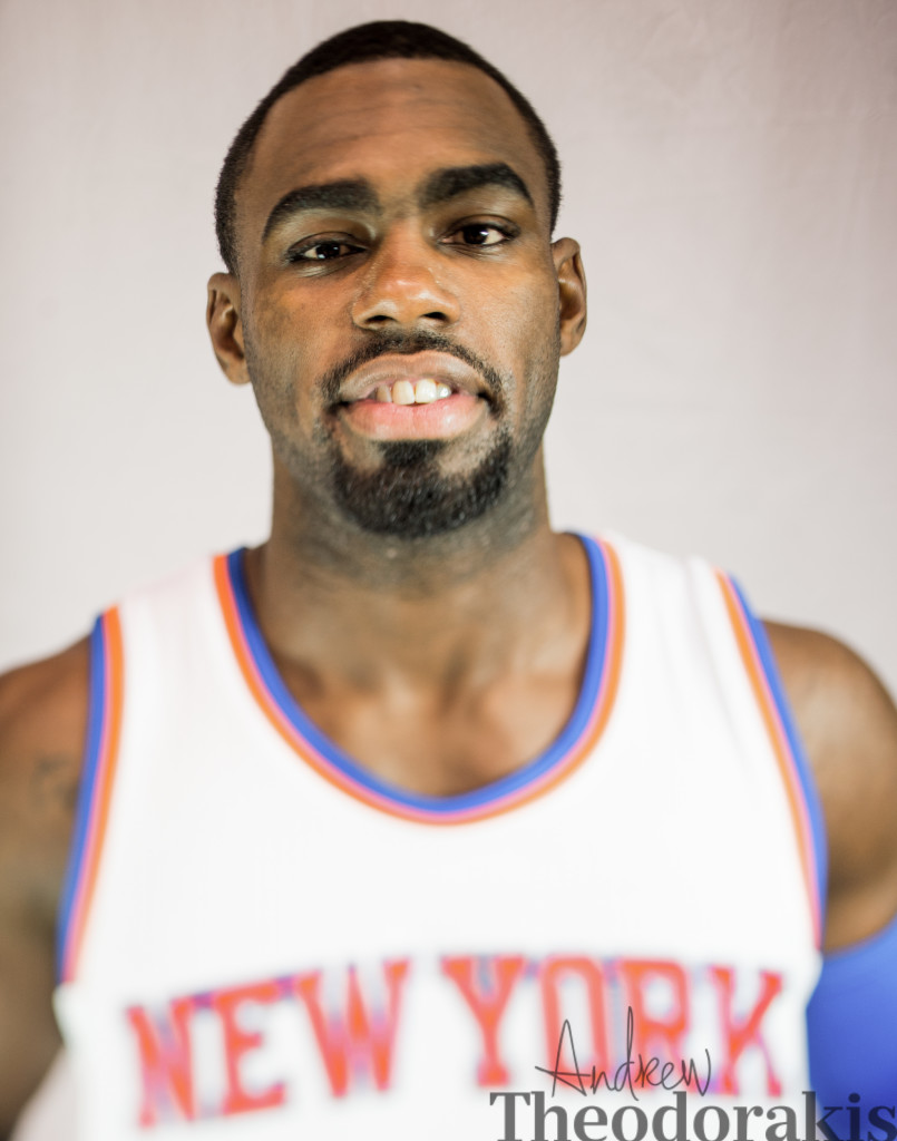 The New York Knicks during media at the Madison Square Garden Parctice arena on September 29, 2014 -Greenburgh New Jersey.
