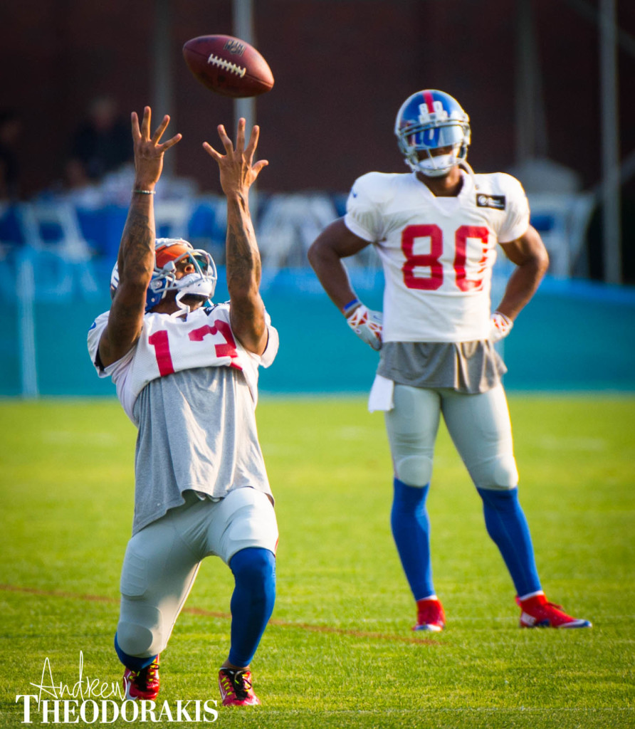 New York Giants wide receiver Odell Beckham (13) during practice at the Quest Diagnostics center on Monday August 17th, 2015. (Andrew Theodorakis/for New York Daily News).